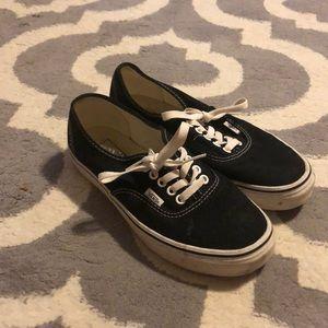 Black and white vans
